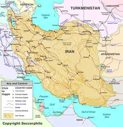 Iran map. Click here for Flash version.